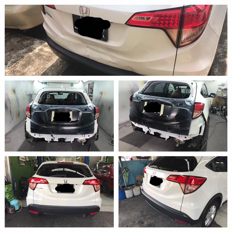 Car body sticker design singapore - Accident Repair For Vezel Specialist Amk Branch Only