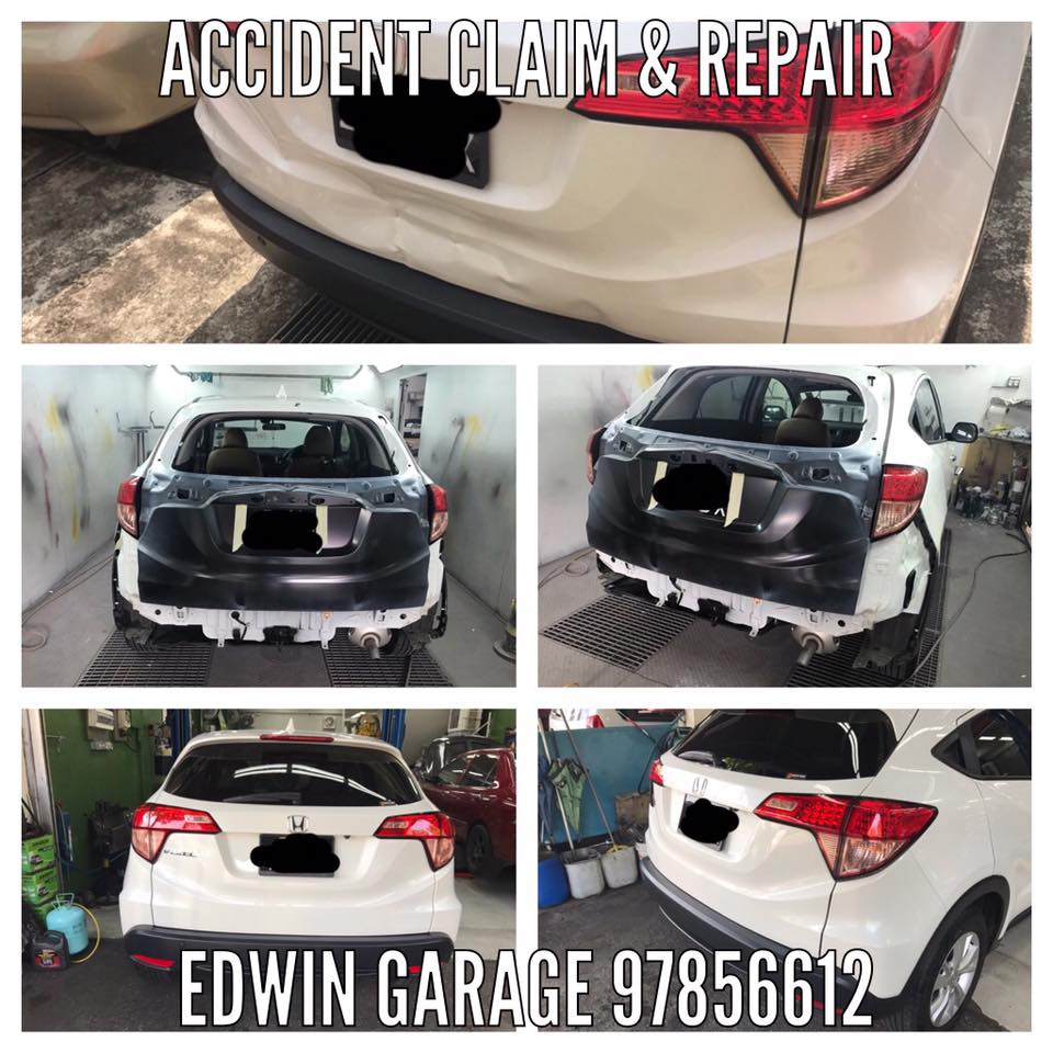Honda vezel rear boot accident claim replacement