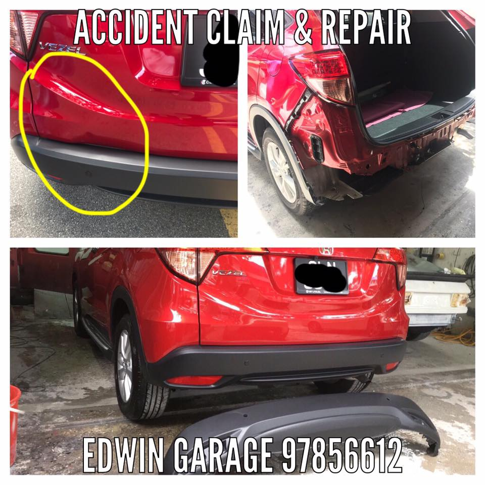 Honda vezel rear boot and bumper replacement claim