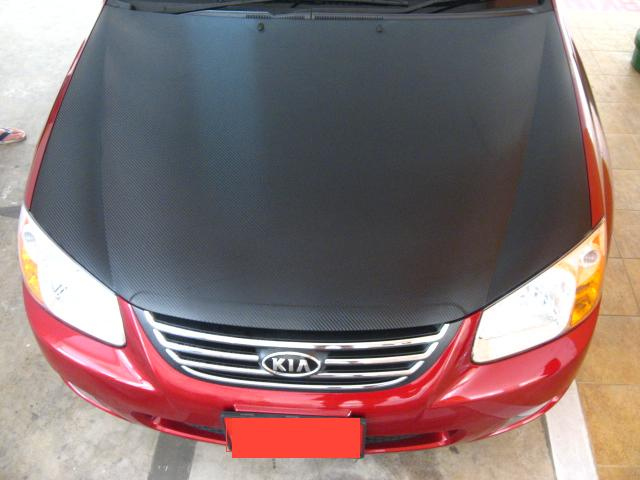 Bonnet (Cerato V2) -Semi gloss CF Top View