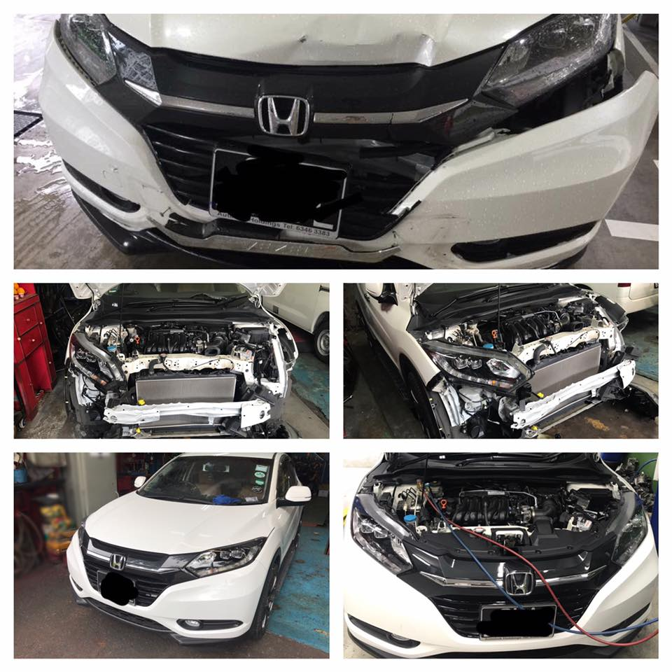 honda vezel front self repair 0 00 carbon fibre sticker