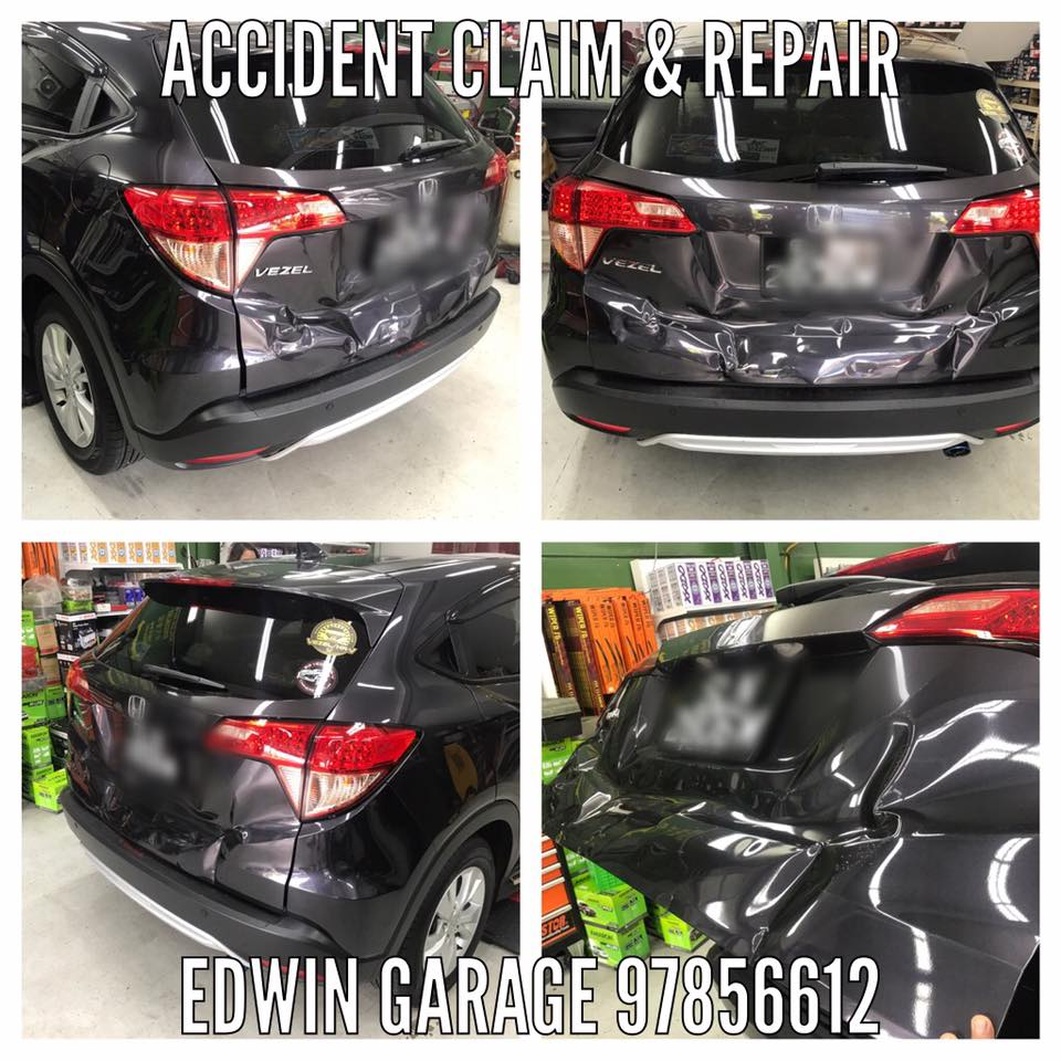 honda vezel rear end accident claim serious